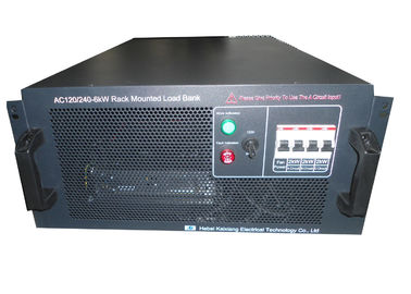 China Air Flow Control Rack Mounted Load Bank Grade F With Resisitive Power 6 KW distributor